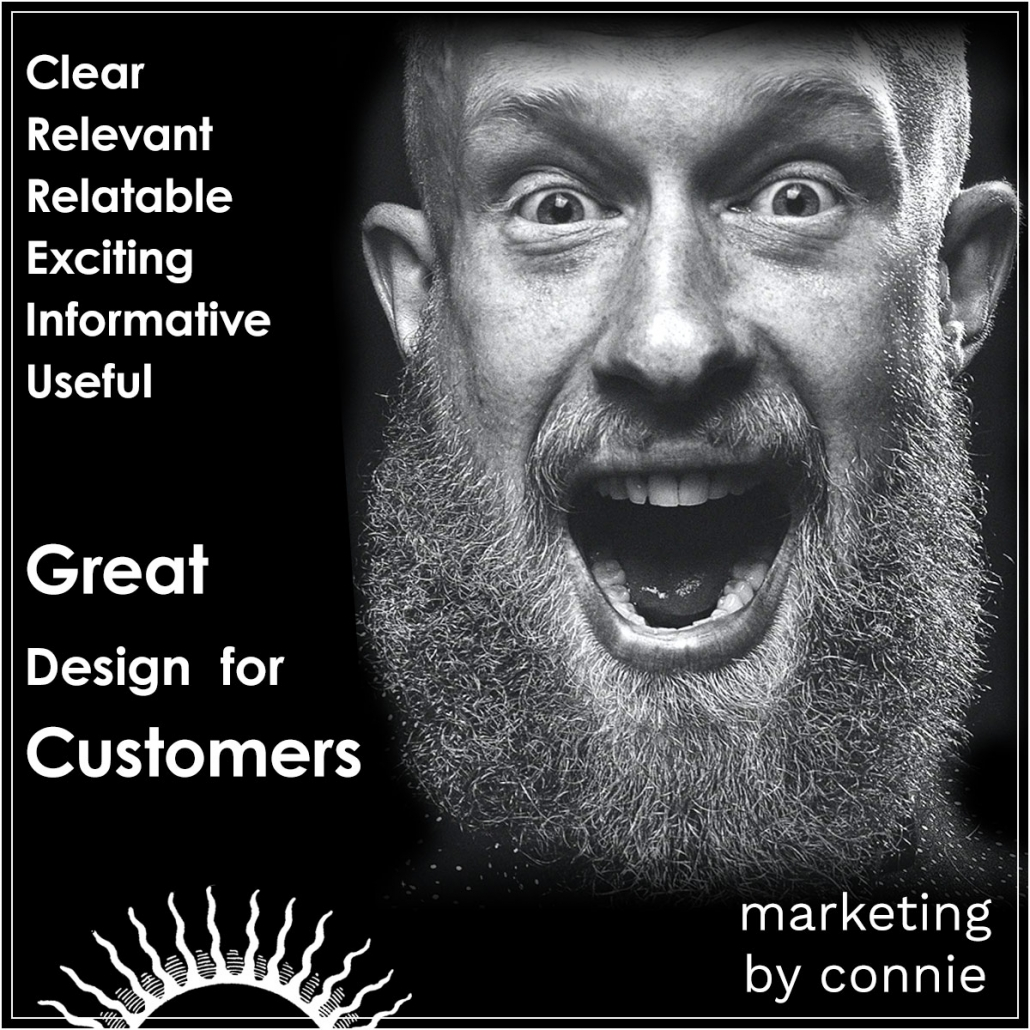 Great Design for Customer - Marketing by Connie.
